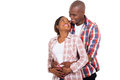 Young couple embracing afro american over white background Royalty Free Stock Image