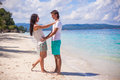Young couple enjoying their vacation and have fun Royalty Free Stock Photography