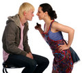 Young couple fights Royalty Free Stock Photo