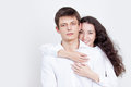 Young couple guy and happy girl Royalty Free Stock Photos