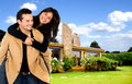 Young couple having fun home Stock Photography