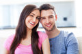 Young couple hugging and smiling Royalty Free Stock Photo