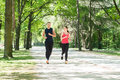 Young Couple Jogging Royalty Free Stock Photo
