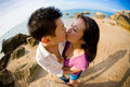 Young couple kissing each other Royalty Free Stock Images