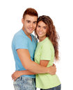 Young couple in love isolated on white background Stock Photos