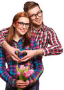 Young Couple In Love Make A He...