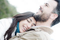 Young couple in love portrait of a of lovers laughing they are there is a lot of tenderness the image perfect photo for valentines Royalty Free Stock Photography