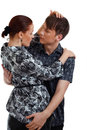 Young couple in love  studio shot Royalty Free Stock Photos
