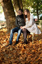 Young couple in the Luxembourg garden Stock Photography
