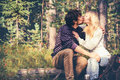 Young Couple Man and Woman Kissing and Hugging in Love Romantic Outdoor Royalty Free Stock Photo