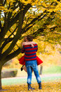 Young Couple Meet In Park On D...