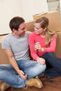 Young couple on moving day Stock Photography