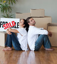 Young Couple Moving House Royalty Free Stock Photography