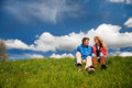 Young couple in nature Stock Photos