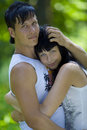 A young couple in the park Royalty Free Stock Photos