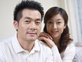 Young couple portrait of a asian Royalty Free Stock Photo