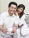 Young couple portrait of a asian Stock Images
