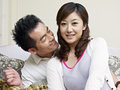 Young couple portrait of a asian Royalty Free Stock Images