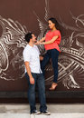 Young couple pregnant in a loving pose Royalty Free Stock Images