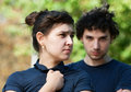 Young couple after quarrel Royalty Free Stock Photo