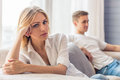 Young couple quarrels Royalty Free Stock Photo
