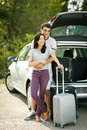 Young couple ready for road trip Royalty Free Stock Photo