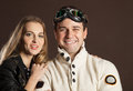 Young couple in retro style clothes Royalty Free Stock Photo