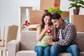 The young couple saving money for baby to be born Royalty Free Stock Photo