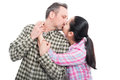 Young couple sharing a romantic kiss Royalty Free Stock Photo