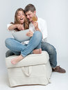 Young couple shopping online Royalty Free Stock Photo
