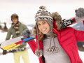 Young Couple On Ski Vacation Royalty Free Stock Photography