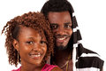 Young couple smiling african american at the camera Royalty Free Stock Photography