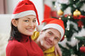 Young couple spending Christmas time together Stock Photos