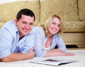 Young couple spends time together Royalty Free Stock Photos