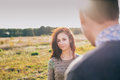 Young couple at sunset Royalty Free Stock Photo
