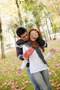 Young couple surprise Stock Photos