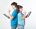 A young couple with a Tablet PC Royalty Free Stock Photos