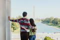 Young couple visiting washington dc a the nations capital Royalty Free Stock Photography