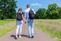 Young Couple Walking Hand In H...