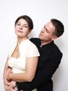 Young couple on white background Stock Image