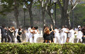 Young couples dancing outdoors in Havanna, Cuba Stock Photography