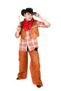 Young cowboy Stock Photography