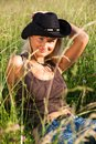 Young cowgirl Royalty Free Stock Images