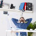 Young creative designer man working at office in the Royalty Free Stock Photos