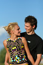 Young cute couple boy and girl Royalty Free Stock Image