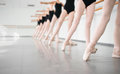 Young dancers ballerinas in class classical dance ballet legs of Royalty Free Stock Photos