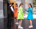 Young dancers jozefow poland may children dancing at the show during the festival Royalty Free Stock Image