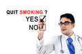 Young doctor agreeing about quit smoking Royalty Free Stock Photo