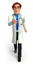 Young doctor d rendered illustration of Royalty Free Stock Photo