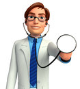 Young doctor d rendered illustration of Royalty Free Stock Image